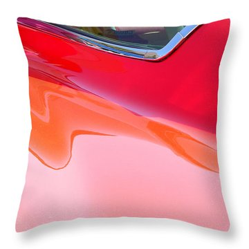 Throw Pillow featuring the photograph Corvette Beautiful Art Lines by Jeff Lowe