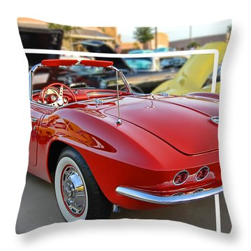 Throw Pillow featuring the photograph Corvette Cool by Dyle   Warren