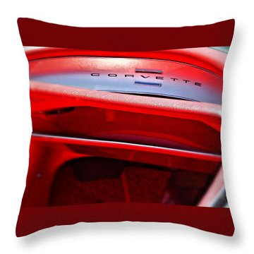 Corvette Dash - Mike Hope Throw Pillow