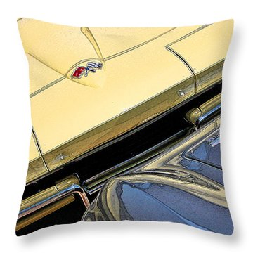 Throw Pillow featuring the photograph Corvette Edges by Christopher McKenzie