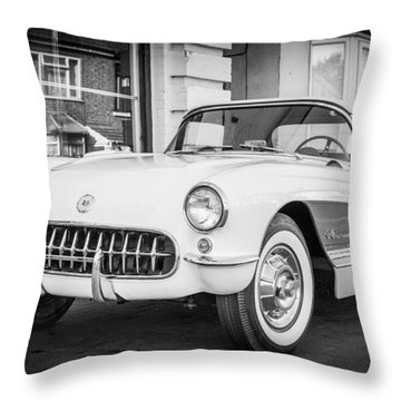 Throw Pillow featuring the photograph Corvette by Gary Gillette