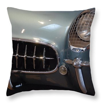 Corvette Roadster 1955 Throw Pillow