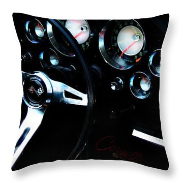 Classic Cars Throw Pillow featuring the photograph Corvette Stingray by Aaron Berg