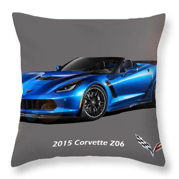 Corvette Z06 Convertible Throw Pillow