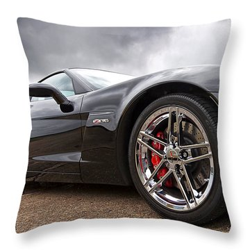Corvette Z06 Throw Pillow