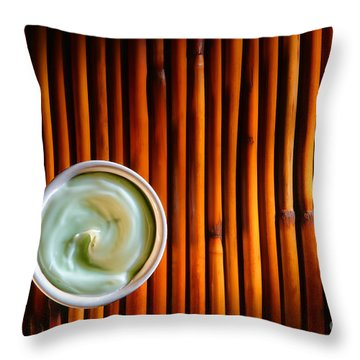 Cosmetic Cream Throw Pillow by Olivier Le Queinec