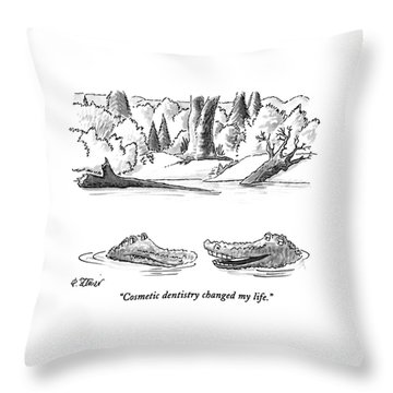 Cosmetic Dentistry Changed My Life Throw Pillow