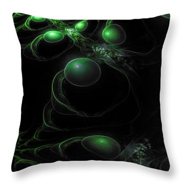 Cosmic Alien Eyes Original 2 Throw Pillow