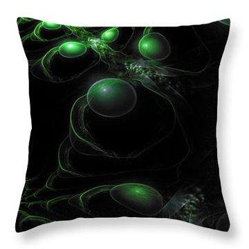Cosmic Alien Eyes Original 2 Throw Pillow