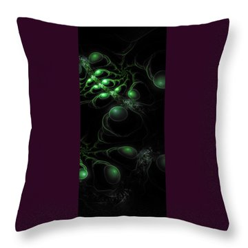 Cosmic Alien Eyes Original 2 Throw Pillow by Shawn Dall