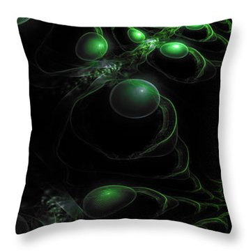 Cosmic Alien Eyes Original Throw Pillow