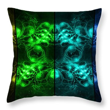 Cosmic Alien Eyes Pride Throw Pillow