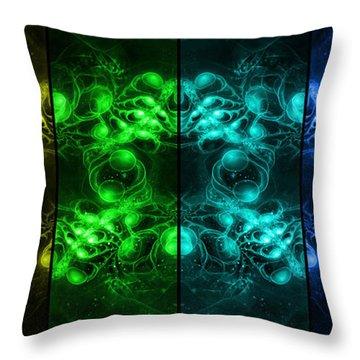Cosmic Alien Eyes Pride Throw Pillow