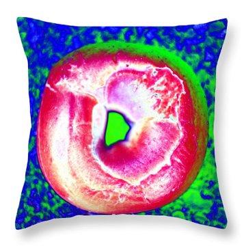 Cosmic Bagel Throw Pillow
