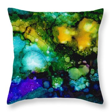Cosmic Birth Throw Pillow