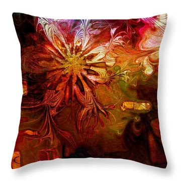Cosmic Bloom Throw Pillow by Amanda Moore