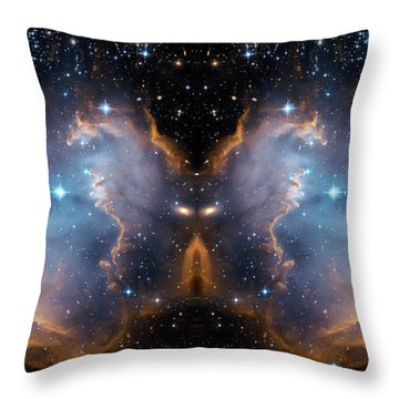 Cosmic Butterfly Throw Pillow by Jennifer Rondinelli Reilly - Fine Art Photography