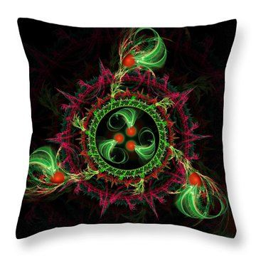 Throw Pillow featuring the digital art Cosmic Cherry Pie by Shawn Dall
