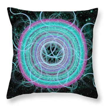Throw Pillow featuring the digital art Cosmic Circle by Shawn Dall