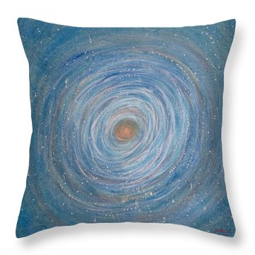 Cosmic Nest Throw Pillow