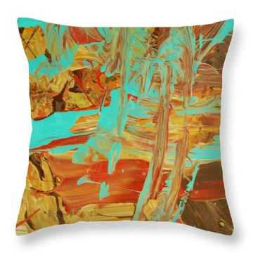 Cosmic Energy Throw Pillow by Artist Ai