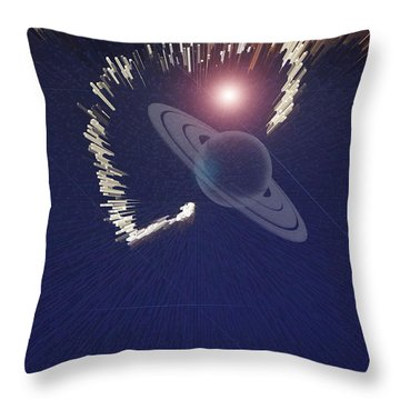 Cosmic Event Throw Pillow by Augusta Stylianou