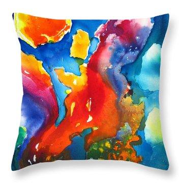 Cosmic Fire Abstract  Throw Pillow by Carlin Blahnik