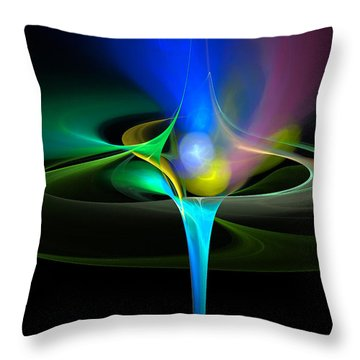Throw Pillow featuring the digital art Cosmic Flare by Pete Trenholm