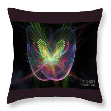 Cosmic Flight Throw Pillow by Peter R Nicholls