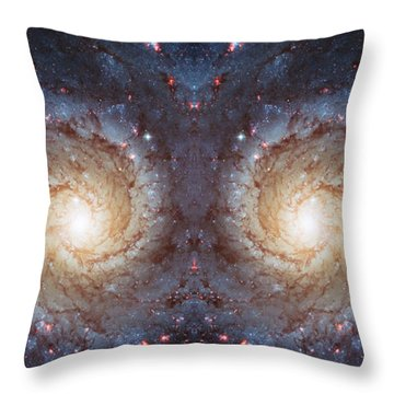 Cosmic Galaxy Reflection Throw Pillow by Jennifer Rondinelli Reilly - Fine Art Photography
