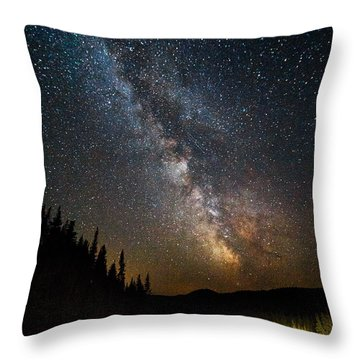Cosmic Highway Throw Pillow
