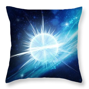 Throw Pillow featuring the digital art Cosmic Icestream by Shawn Dall