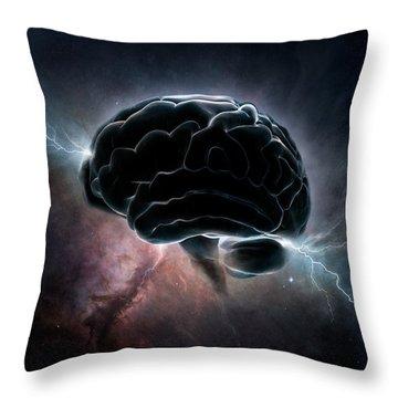 Cosmic Intelligence Throw Pillow