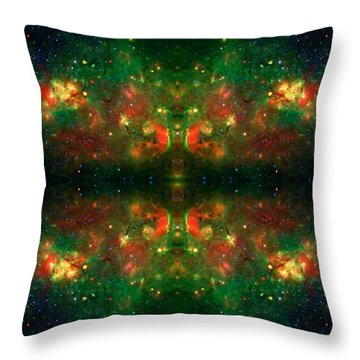 Cosmic Kaleidoscope 3 Throw Pillow by Jennifer Rondinelli Reilly - Fine Art Photography
