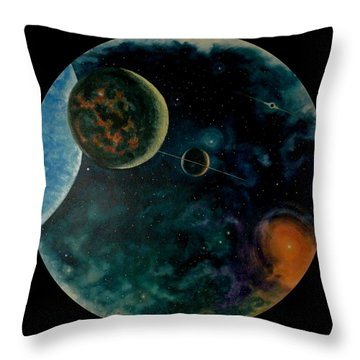 Cosmic Light Throw Pillow by Len Sodenkamp