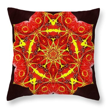 Cosmic Masculine Firestar Throw Pillow by Derek Gedney