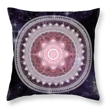 Cosmic Medallions Fire Throw Pillow