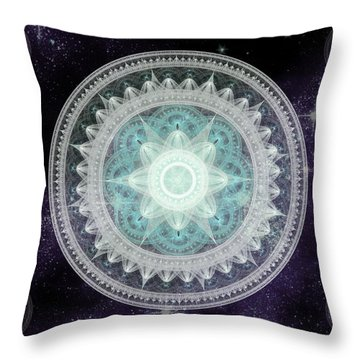 Cosmic Medallions Water Throw Pillow