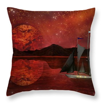 Cosmic Ocean Throw Pillow