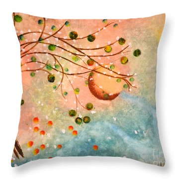 Cosmic Orb Tree Throw Pillow