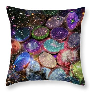 Cosmic Ovule Throw Pillow