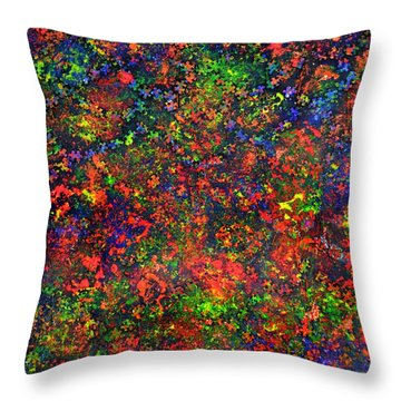 Cosmic Prism Throw Pillow by P Dwain Morris