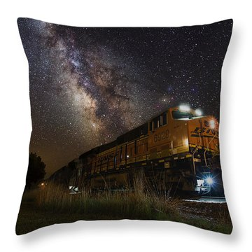 Cosmic Railroad Throw Pillow
