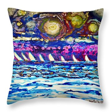 Cosmic Regatta Throw Pillow