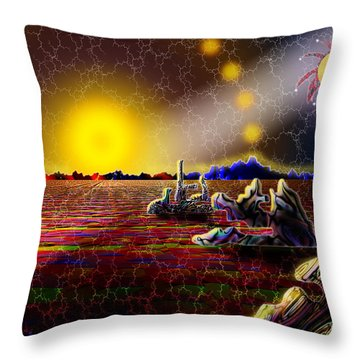 Cosmic Signpost Throw Pillow by Melinda Fawver