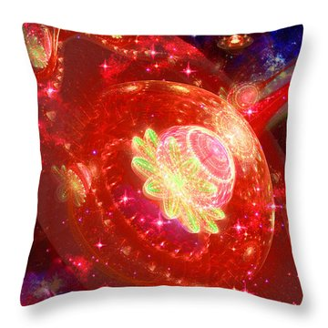 Cosmic Space Station 2 Throw Pillow by Shawn Dall