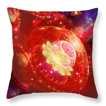 Throw Pillow featuring the digital art Cosmic Space Station by Shawn Dall