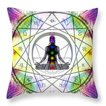 Cosmic Spiral Ascension 14 Throw Pillow by Derek Gedney