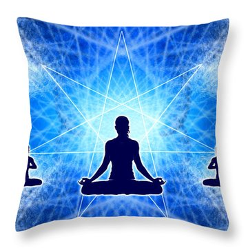 Throw Pillow featuring the digital art Cosmic Spiral Ascension 22 by Derek Gedney