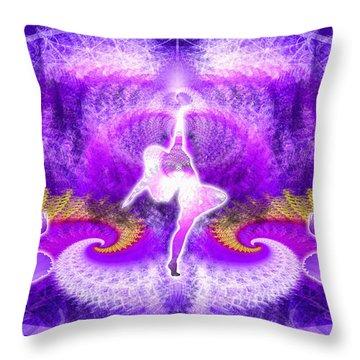 Cosmic Spiral Ascension 27 Throw Pillow by Derek Gedney
